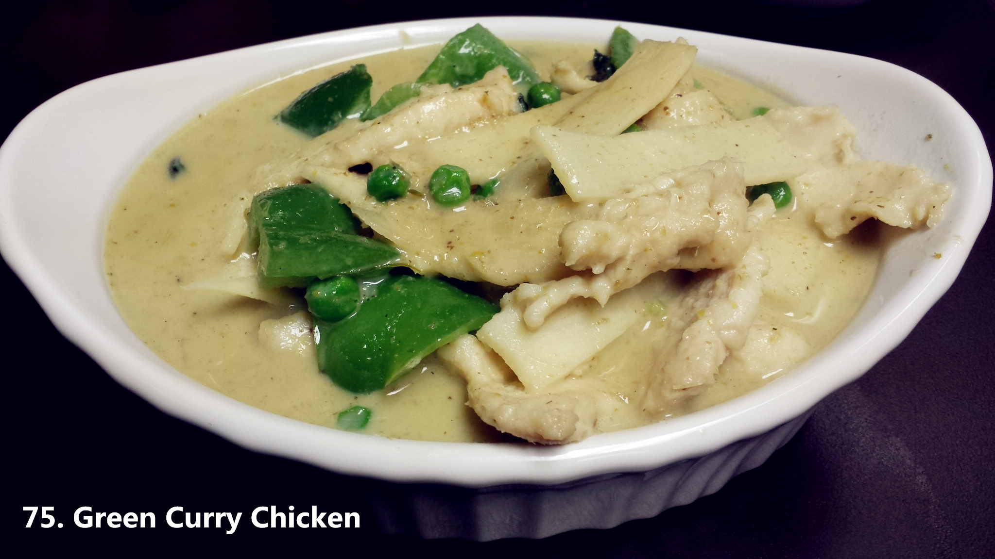 75 green curry chicken asian fusion 168 for Asian 168 cuisine